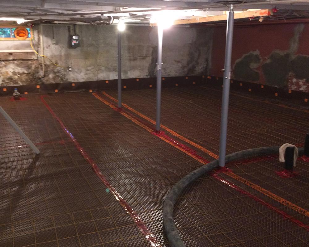 Tuff N Dri® Basement Waterproofing System Images